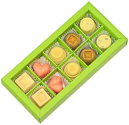 Greendoor Badepralinen Geschenk-Set Cremebad 100g natürliche Badezusätze mit BIO Kakaobutter, handgefertigte Naturkosmetik, Natur Badezusatz, Geschenke
