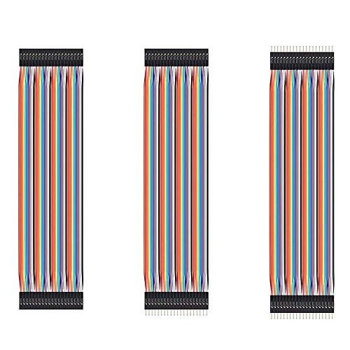 150Pcs 10CM Dupont Wire Jumper Cables,50Pin Male to Female,50Pin Male to Male, 50Pin Female to Female for Solderless BreadBoard/Arduino Based/DIY/Raspberry Pi 2 3 and More (10CM)
