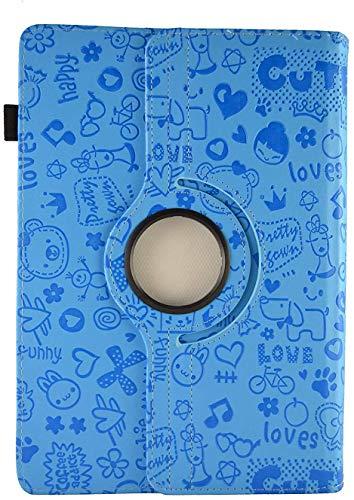 Theoutlettablet Funda de diseño Original Azul de Dibujos y función Giratoria para Tablet Blackview Tab8 10,1'