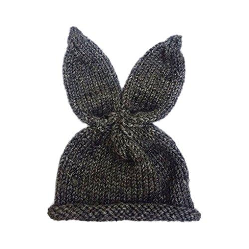 Demino 0-6 maanden pasgeboren baby konijn hoeden foto rekwisieten konijn oor haak gebreide muts muts muts baby outfit kostuum accessoire