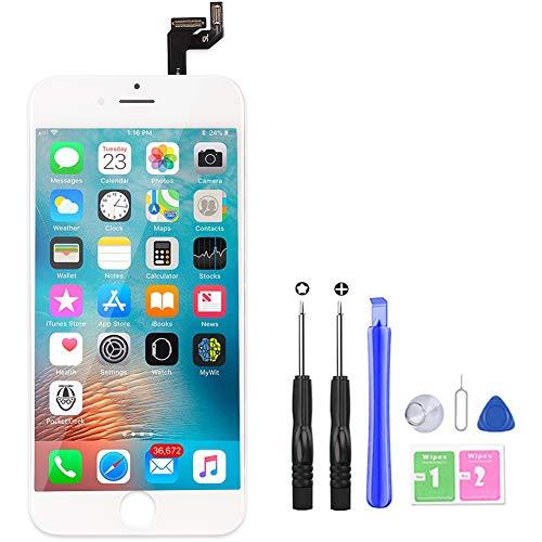 YoSuDa Für iPhone 6s Display ersatzbildschirm(4.7''), Ersatz Für LCD Touchscreen Display Reparaturset mit Werkzeuge (Weiß)