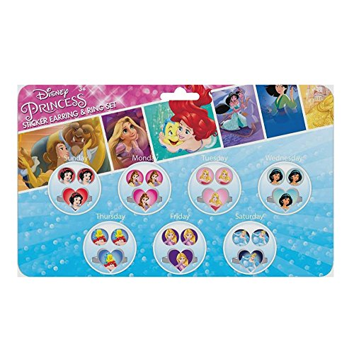 Joy Toy 63523 Schmuck-Set Prinzessinnen mit Stickerohrringen