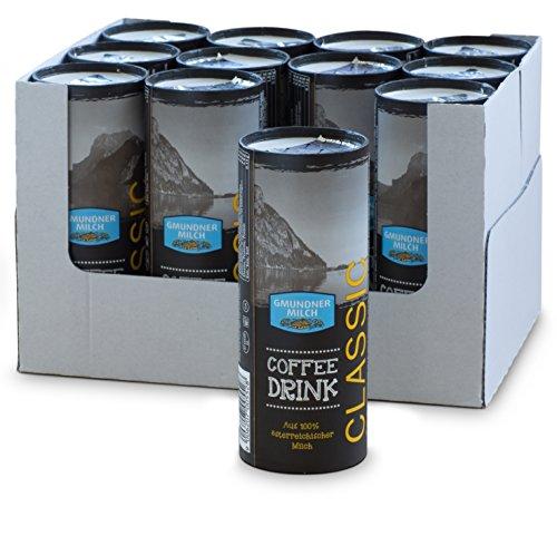 GMUNDNER MILCH Fettarmer Eiskaffee to Go | inkl. kostenlosem Salzkammergut Kochbuch | 3 Monate ungekühlt haltbar, 12 x 230 ml | Lebensmittel aus Österreich