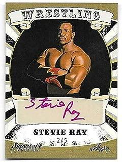 2016 Leaf Wrestling Signature Series Black #78 Stevie Ray Autograph Card #2/5