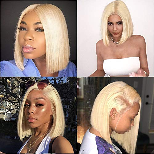 613 Blonde Bob Lace Front Wigs Halo Lady Short Bob Wig Straight Virgin Human Hair Wig With Full Ends 13x4 Middle Part Frontal Transparent Lace Wig 10 Inch Buy Online In Isle