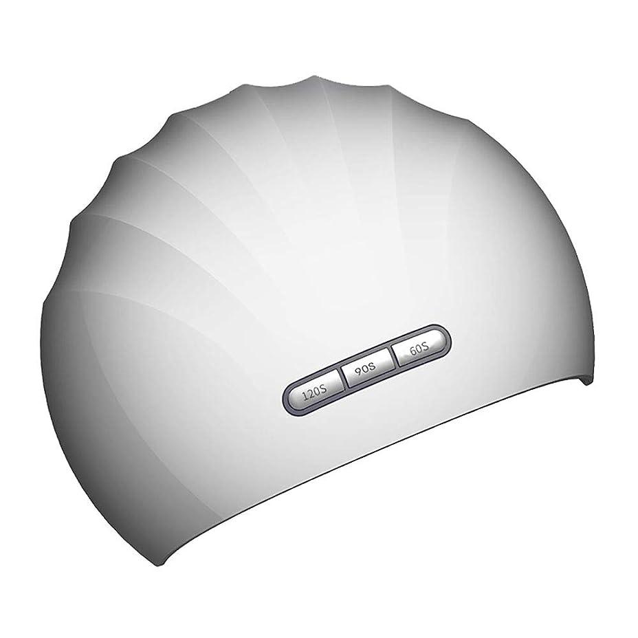 シルエット城苦い釘のドライヤー - 自動赤外線センサー、二重光源のLEDランプのゲルのドライヤーのマニキュアが付いている紫外線携帯用LEDの釘ランプ