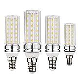 BOGAO E14 Bombillas LED de maíz, 12W equivalentes a...