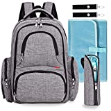 Baby Diaper Bag Waterproof Travel Diaper Backpack with Changing Pad...