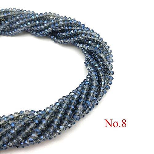 Groothandel 2X3mm 195st Tsjechische kristallen kralen voor sieraden maken DIY naaldwerk AB kleur Spacer facet glas kralen 2X3mm-195pcs Nr. 8