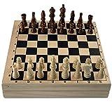Pinpig Tablero de Juego Multifuncional de Madera, Puede Jugar ajedrez Internacional, Juego de Hockey de Mesa, Juego de Hockey portátil para Adultos, Interesante Juego de Mesa clásico