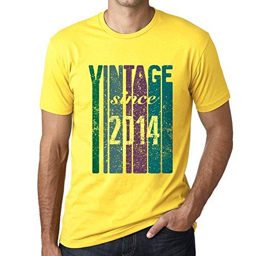 One in the City 2014, Vintage Since 2014 Hombre Camiseta Amarillo Regalo De Cumpleaños 00517