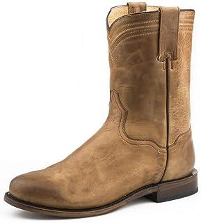 حذاء Roper Men's Roderick Western ذو مقدمة مستديرة بني