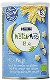 Nestlé Naturnes Bio Nutri Puffs Snack De Cereales Con Plátano, A Partir De 8 Meses - Pack de 5...