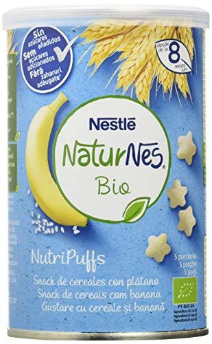Nestlé Naturnes Bio Nutri Puffs Snack De Cereales Con Plátano, A Partir De 8 Meses - Pack de 5 envases x 35g