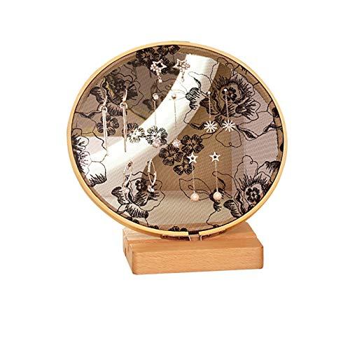 Honyan Ohrringständer aus Holz, runde Spitze, Schmuck-Aufbewahrung, Schreibtisch-Platzierung und Wand-montierte Ohrringe, Organizer, Raumdekoration