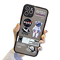 IPhone 11ケース、NASA宇宙飛行士の宇宙用透明曇りケースソフトショックプルーフ保護カバーTPUシリコンバンパー+ iPhone 11用ハードバックパネルケース,B,iPhone 11 Pro