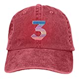 Chance The Rapper Coloring Book 3 Denim Caps for Mens Womens Baseball Hats Summer Casquette Red