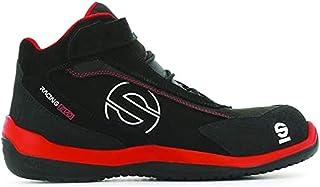 Sparco S0751546RSNR Zapatillas Racing EVO Red/Black, Rojo/Negro, 46 EU