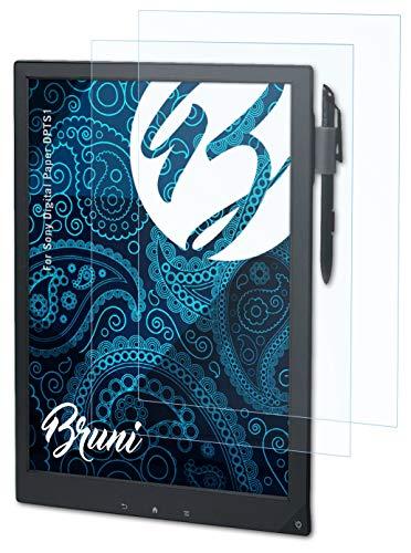Bruni Schutzfolie kompatibel mit Sony Digital Paper DPTS1 Folie, glasklare Bildschirmschutzfolie (2X)
