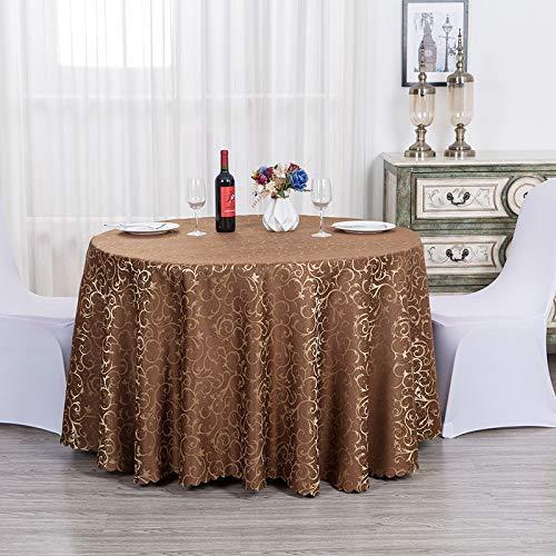 LIUJIU Mantel de poliéster sólido impreso floral moderno mantel boda banquete restaurante fiesta, 2,6 m redondo