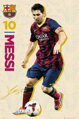 empireposter – voetbal – Barcelona – Messi Vintage 13/14 – afmetingen (cm), ca. 61x91,5 - Poster, NIEUW -