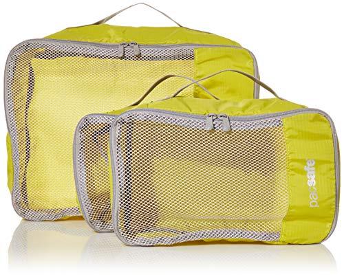 Pacsafe Juego de cubos de viaje de tres piezas, Juego de 3 cubos de viaje, Amarillo citronela, Large 20L/Medium 9LL