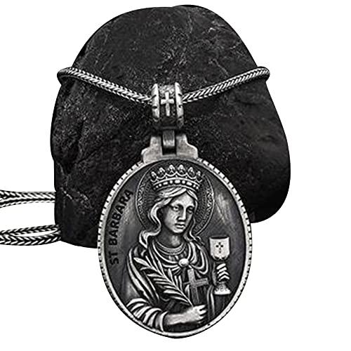 Virgen MaríA Colgante Collar para Hombres Mujeres Religioso Medalla Hecho A Mano Cristo CatóLico Amuleto Regalo Joyas Accesorios
