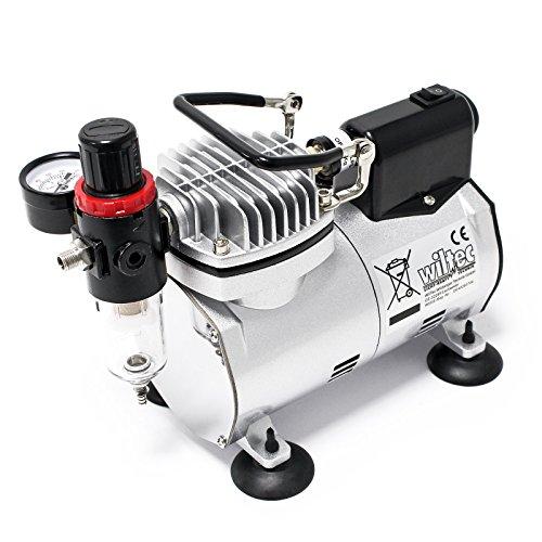 Airbrush Kompressor AF18-2 Membrankompressor 4 bar Abschaltautomatik Manometer