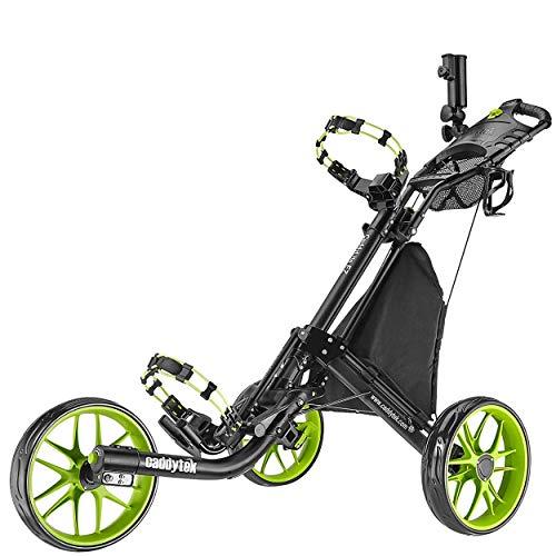 Caddytek EZ-Fold Chariot de Golf à 3 Roues (Citron Vert)