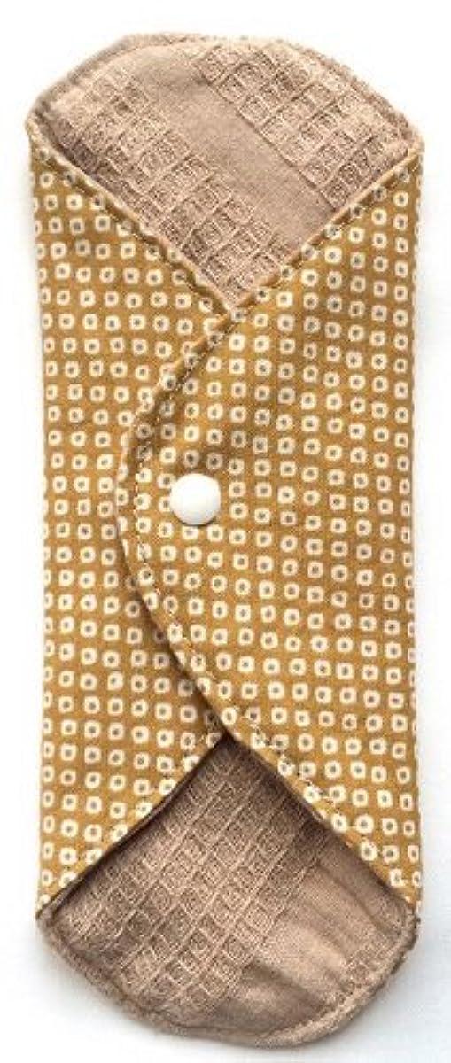 サラミフェード忙しい華布 オーガニックコットンのあたため布 Mサイズ(約15×約15cm) 鹿の子柄(辛子)