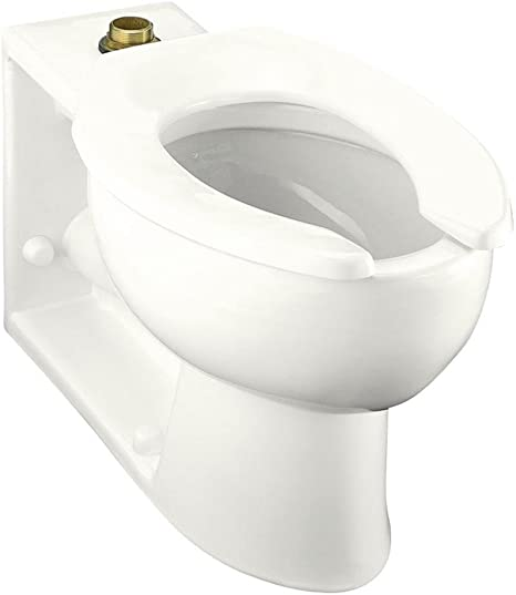 Almond Almond KOHLER K-4386-L-47 Anglesey 1.6 GPF Toilet Bowl with Top Spud and Bedpan Lugs TM