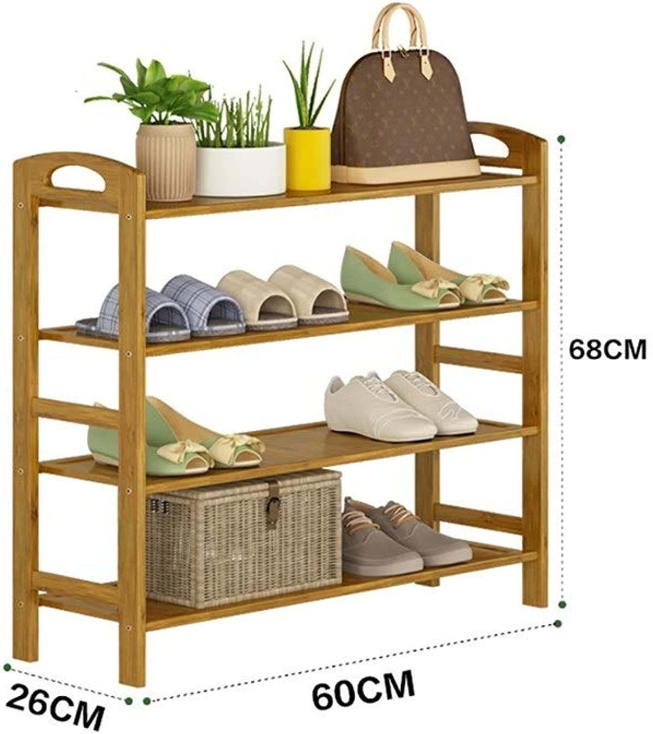 shoes Rack Organizer Storage, Multi-Layer shoes Rack, Simple shoes, Multi-Function Storage Assembly, Solid Wood Racks. (Size   60  26  68CM)