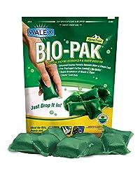 Walex Bio-Pak RV Black Holding Tank Deodorizer and Digester, Natural Enzyme Formula, Alpine Fresh 10-Pack