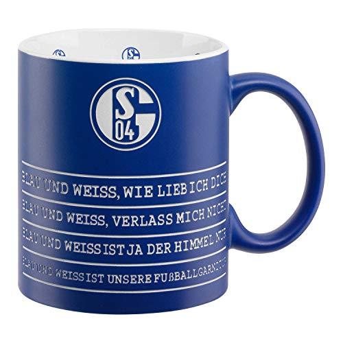 FC Schalke 04 Tasse - Hymne - Kaffeetasse, Kaffeebecher, Mug S04 - Plus Lesezeichen I Love Gelsenkirchen