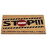 Alfombra Puerta de Entrada casa. Felpudo Gracioso y Original. Stop! Alfombrilla...