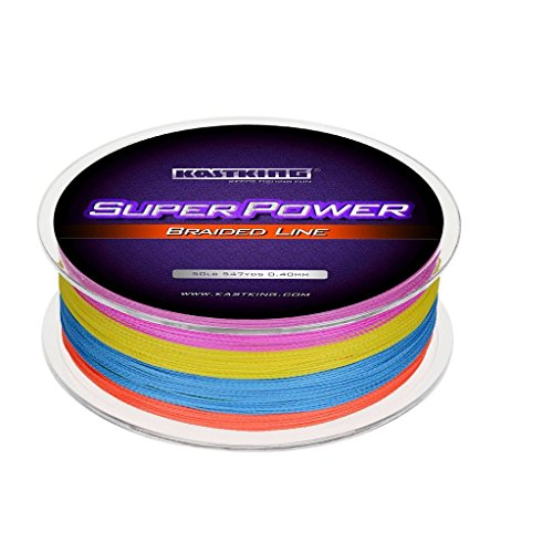 KastKing Superpower Braided Fishing Line,Multi-Color,40 LB,547 Yds