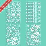 AmzKoi 160 Fensterbilder Selbstklebend, 6 Blätter Schneeflocken Fenstersticker Winter Deko Weihnachtsdeko, Fensterbilder Schneeflocken Wiederverwendbar - 2