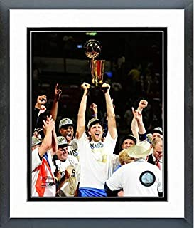 Dirk Nowitzki Dallas Mavericks 2011 NBA Champions Trophy Photo (Size: 12.5