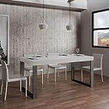 Itamoby, Mesa fija Tecno Fix 180, blanco fresno y antracita, 180 x 90 x 77 cm