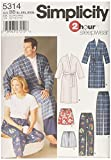 Simplicity Sewing Pattern 5314 Plus Size Sleepwear, BB (X-Large - XX-Large - XXX-Large)