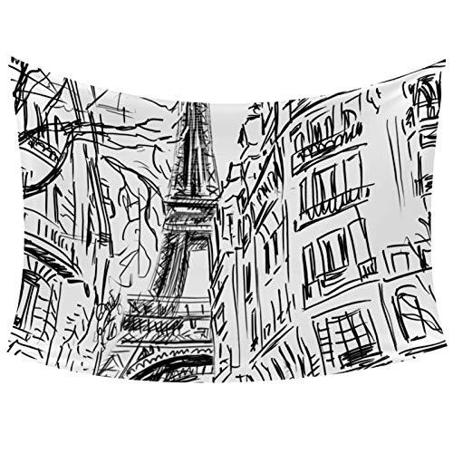 Tapiz de pared de toalla Eiffel para colgar en la pared, decoración de la sala de estar, dormitorio