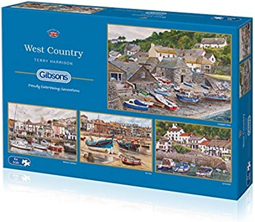 Gibsons The West Country Jigsaw Puzzles (4 x 500-Piece) by Gibsons