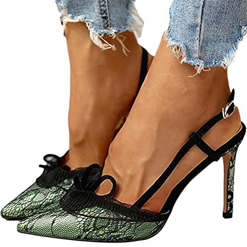 Minetom Sandalias De Mujer Tacones Altos con Tacones De Aguja Zapatos De...