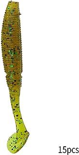 Alomejor Señuelos De Cebo De Pesca Señuelos De Pesca Ojo De La Cabeza De Pescado Plástico Suave Señuelos De Pesca Cebos Blandos Conjunto De Equipos De Pesca Accesorios del Equipo