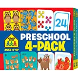 School Zone - Preschool Flash Cards 4 Pack - Ages 4 and Up, Kids  Games, Puzzles, Shapes, Colors, Numbers, Readiness Skills, and More (Flash Card 4-pk)