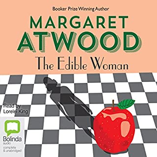 The Edible Woman                   By:                                                                                                                                 Margaret Atwood                               Narrated by:                                                                                                                                 Lorelei King                      Length: 9 hrs and 37 mins     103 ratings     Overall 4.1