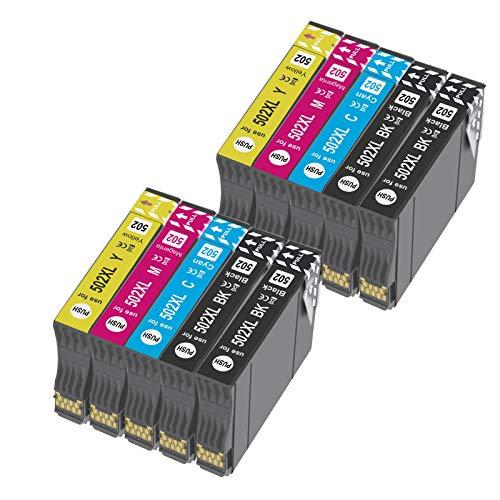 OGOUGUAN 502 XL Reemplazo para 502XL Cartuchos de Tinta Compatiable con Expression Home XP-5100 XP5100 XP-5105 XP5105, Workforce WF-2860DWF WF-2865DWF WF-2860 WF-2865 (10 Paquete)