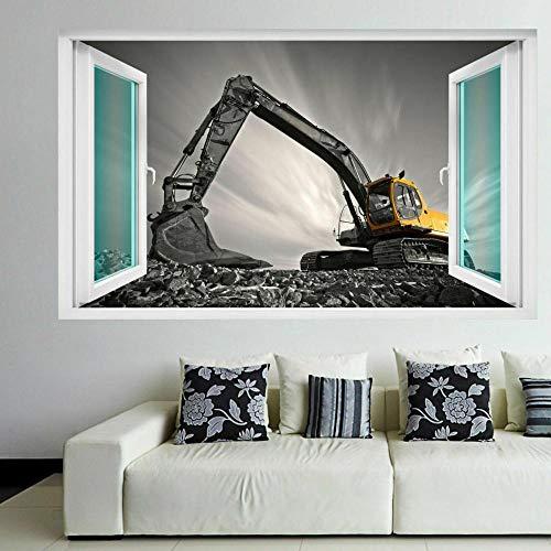 SYYUN Pegatinas dePared Excavadora Equipo de construcción Máquina Arte de la pared Pegatinas Mural Calcomanía Niños EK5 60 X 90 CM