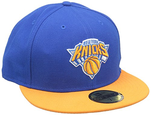 New Era Erwachsene Baseball Cap Mütze NBA Basic New York Knicks 59Fifty Fitted, Blau, 6 7/8