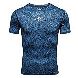 Roiper T-Shirt de Protection Anti UV pour la Natation ou la plongèe T-Shirt Protection Solaire Lycra Surf Homme Anti-UV Haut Top...